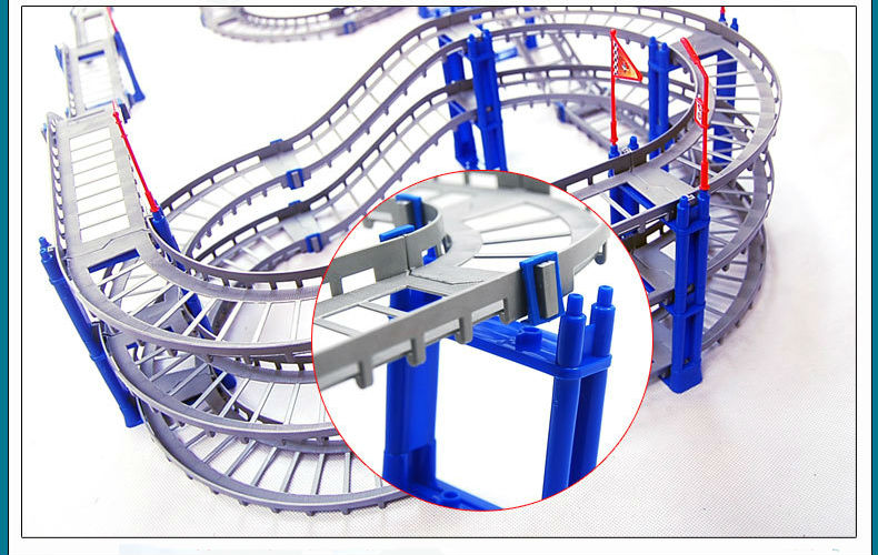 Image 2 - 140pcs supper big DIY Assemb Slots Off road Vehicle 3D Electric Rail Car 3Layers Slot Kit Spiral Track Roller Coaster Child Gift-in Diecasts & Toy Vehicles from Toys & Hobbies on AliExpress