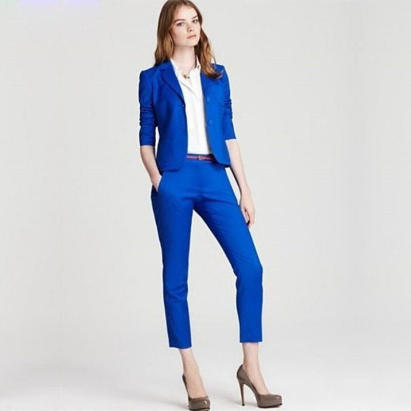 womens pants Womens Business Suits Ladies Pant Suits 2 Piece Women Trouser Suits in Pant Suits from Women 39 s Clothing