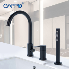 купить GAPPO bathtub Faucet waterfall bathroom bathroom tap mixer sink faucet rainfall water black mixer Wall Mounted Faucets taps дешево