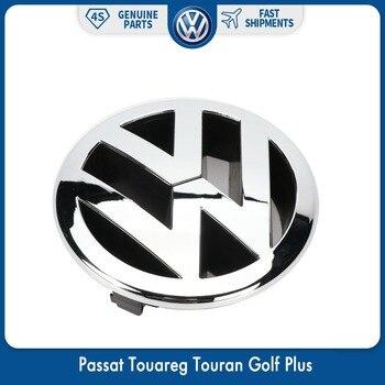 130mm Front Radiator Grille Emblem Logo for VW Volkswagen Passat 06-11 Touareg 07-10 Touran Golf Plus 2005-2009 5M0 853 601 FDY 125mm chrome 1t0 853 601 a front radiator grille emblem car logo badge for vw jetta gli gti eos rabbit 2006 2009 1t0853601a