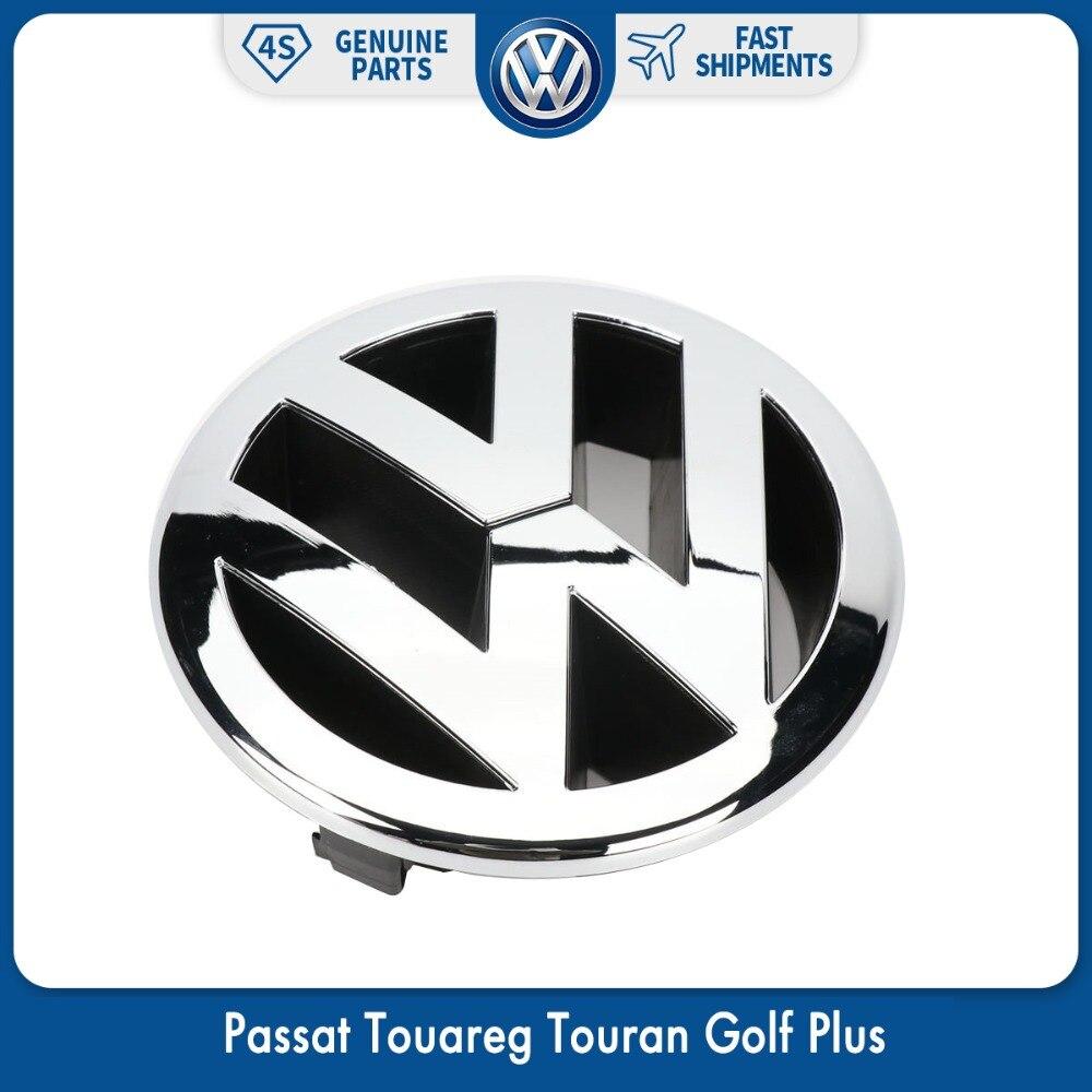 Logotipo dianteiro do emblema da grade do radiador de 130mm para vw volkswagen passat 06-11 touareg 07-10 touran golf plus 2005-2009 5m0 853 601 fdy