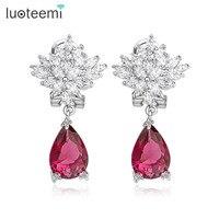 High Quality Wholesale Fashion New 2015 Stylish Trendy Elegant Romantic Bridal Wedding Party Drangle Earring For