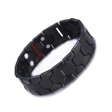 Health Magnetic Therapy Bracelet Men Jewelry 316L Stainless Steel Elements Bracelets