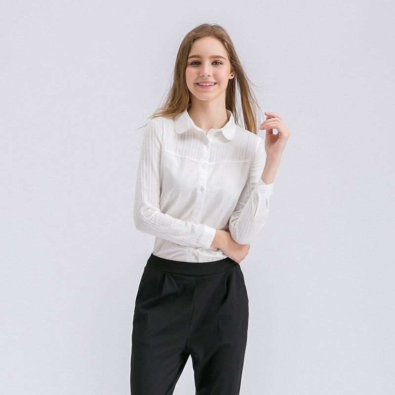 Otoño Mujer Blusas 2017 Oficina Ropa de Trabajo Camisa de Las Mujeres Tops Mujer