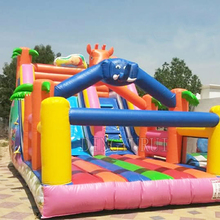 Inflatable slide for bouncer commercial  inflatable castle kids