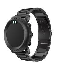 Купить с кэшбэком Bracelet stainless steel watch strap For Suunto Core watch Band Smart watch Adjustable Replacement Strap Wristband Accessories