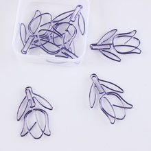 12pcs/box Star Purple Metal Paper Clip Notes Photo Letter Bookmark Office Shool Stationery DIY Diary Album Decorative Clip(China)