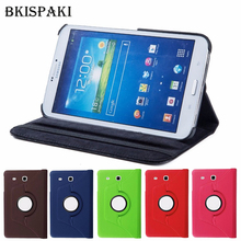цена на 360 Rotating Smart Tablet PC Cover for Samsung Galaxy Tab 3 8.0 SM-T310/T311/T315 PU Leather Stand Flip Luxury Shell Coque
