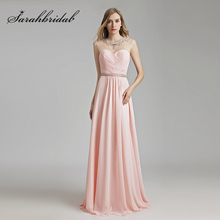 2018 New Arrival Jewel Neckline Prom Dresses Sexy Illusion Back Chiffon Pleat Long Evening Party Gowns Cheap Pageant Dress OL510