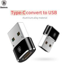 Фотография BASEUS Brand Type-C Female to USB Male Adapter Converter Quick Charge & Transfer Data For Type C Mobile Phone & Tablets Notebook