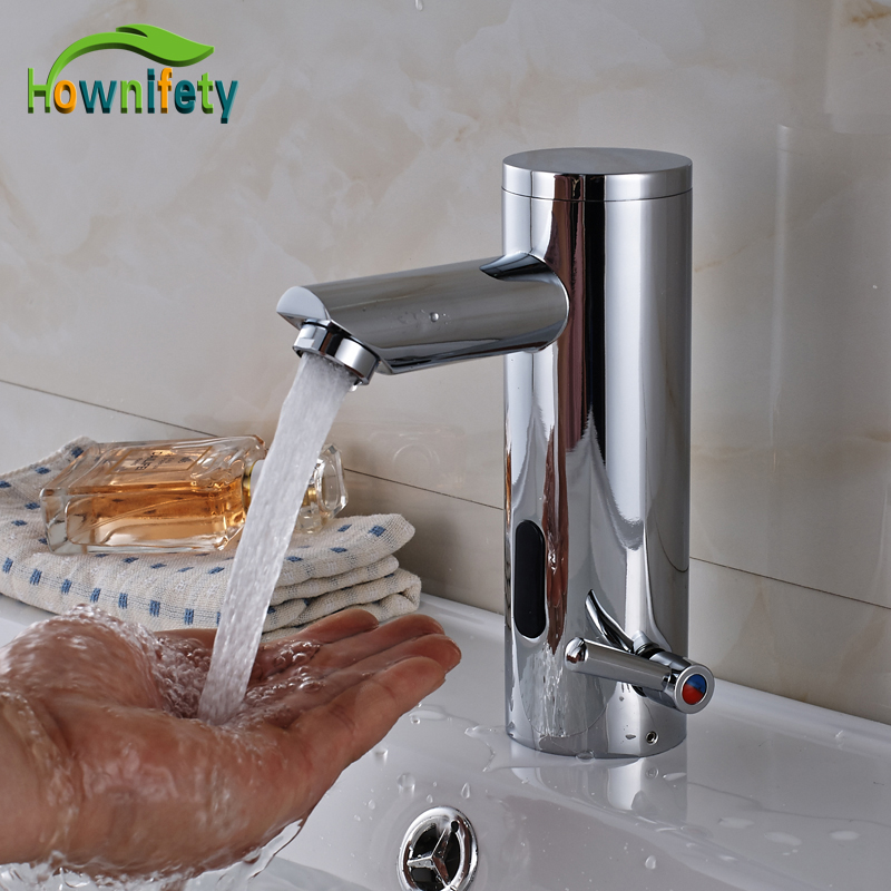 chrome polished automatic hand touch bathroom sink faucet countertop basin sense mixer hot u0026 cold tap
