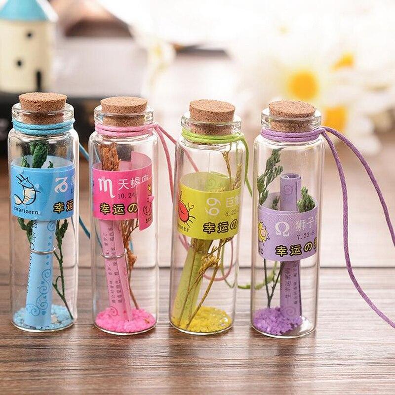 3Pcs/Lot Creative Household Mini Cute Wishing Bottle Multi Color Cork Glass Wish Bottles with Lavender Decor Bottle XHH05690