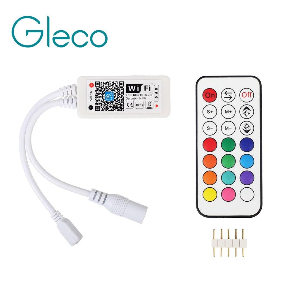 DC5-24V Drahtlose WIFI LED RGB Controller RGBW Controller IR/RF Fernbedienung IOS/Android für Led-streifen RGB RGBW RGBWW