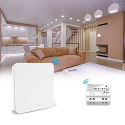 QCSMART Kinetic Wireless Switch, Self-powered No Battery No Wiring Needed, Remote Control Light Lamps, Ventilator, Exhaust Fan