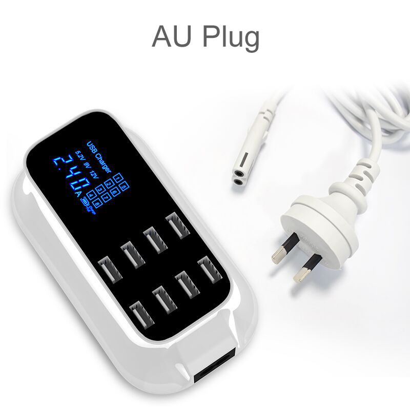 Universal 8 Ports Smart USB Charger Station Hub Led Display charger (26)