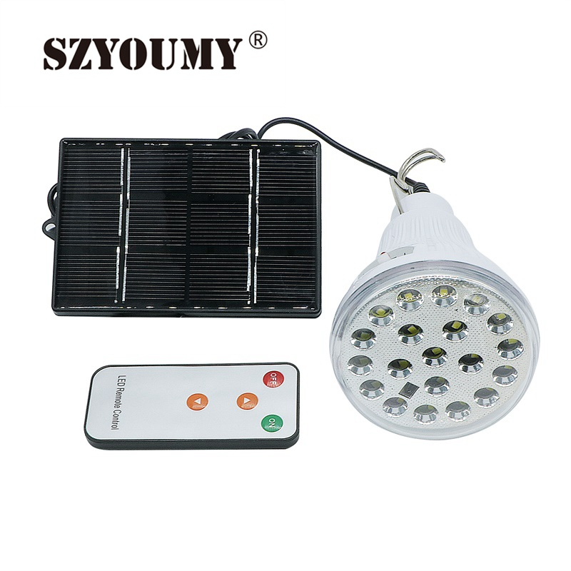 Szyoumy Outdoor Indoor 20 Led Solar Light Garden Home Security Lamp Dimmable Led Solar Lamp By