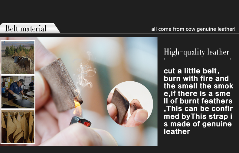 COWATHER nye mode mandlige bælte ko ægte læderbælter varmt - Beklædningstilbehør - Foto 6