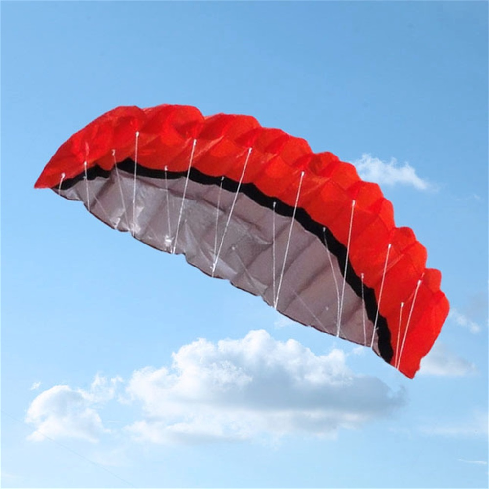 Facile grand 250*80 CM coloré cerf-volant en Nylon en plein air cerfs-volants jouets volants pour enfants enfants cerf-volant Surf avec barre de contrôle et ligne TH0047 - 5