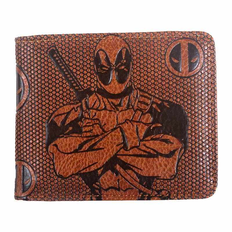 wallet men  marvel Joker/black panther/Star Wars/Batman/deadpool/ vintage Wallets with card holder Zipper coin pocket purse new