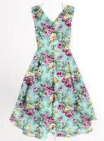 Retro Vintage Vestidos de Tiendas de Compras En Línea Al Por Mayor Dropshipping de Las Mujeres Clubwear Ropa de Invitados De La Boda Azul Impresión Púrpura