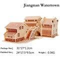 3D Puzzles de madeira Jiangnan Watertown assembléia modelo quebra-cabeças DIY dom brinquedos educativos para crianças frete grátis