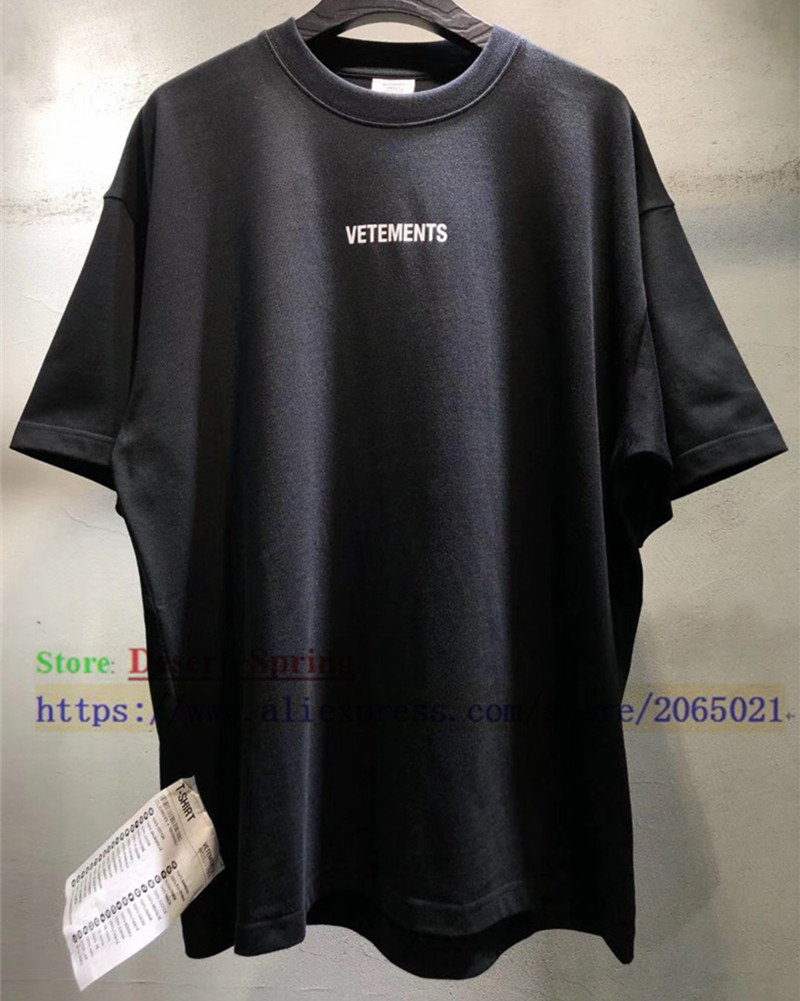 Sticker Vetements Women Men T-Shirts 1:1 High Quality Oversize 280g Combed Cotton Vetements Tees Vetements T Shirt