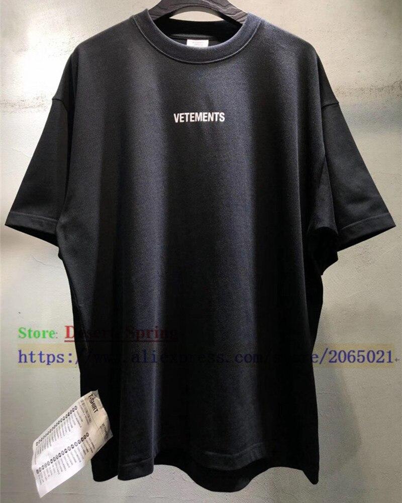 Sticker Vetements Women Men T-Shirts 1:1 High quality Oversize 280g Combed Cotton Vetements Tees Vetements T shirt