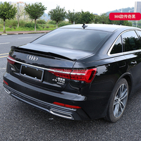 For Audi new A6 Spoiler 2019+ Exterior ABS Plastic Gloss Black Color Rear Roof Spoiler Wing Trunk Lip Boot Cover Car Styling