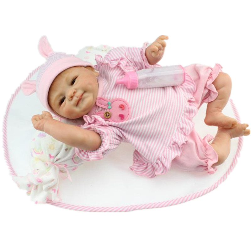 Bebe Reborn Baby Doll 18 Inch Lifelike Soft Silicone Reborn Toys Fashion Gift For Girls Newborn Babies Toys Juguetes Brinquedos 10639 bela city explorers volcano crawler model building blocks classic enlighten diy figure toys for children compatible legoe