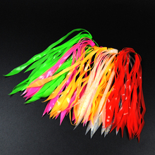 50 pcs Luminous Silicone streamer Red Orange Green Pink  Silicone Skirts for Spinnerbait Buzzbait Rubber Jig Lures Squid Skirts