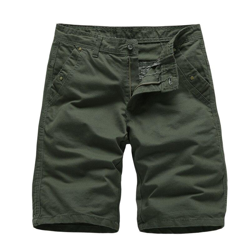 Brand New Mens Cargo Shorts 2019 High Quality Black Military Short Pants Men Cotton Solid Casual Beach Shorts Men Summer Bottom