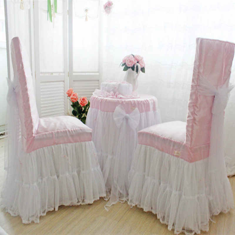 Romantic Wedding Decoration Tablecloth Lace Yarn Skirt Table Cover