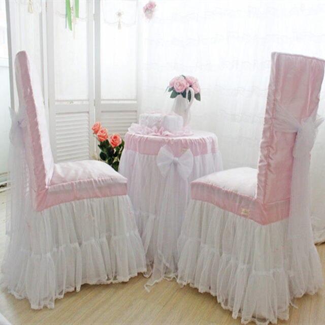 Romantische Hochzeit Dekoration Tischtuch Spitze Garn Rock Tisch Abdeckung  Elegante Stuhlabdeckung Heimtextilien Prinzessin Schlafzimmer Tisch Tuch