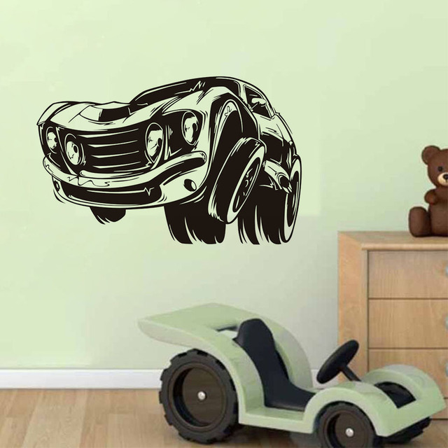 Muscle Car Wall Sticker Wall Art Home Decor For Kids Rooms Removable Wallpaper Living Room Art & Muscle Car Wall Sticker Wall Art Home Decor For Kids Rooms Removable ...