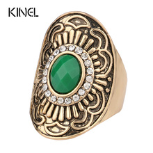 More Styles Can Choose A Combination Of Midi Rings Sets Plated Ancient Gold Bohemia Crystal Jewelry Mosaic Resin Anillos