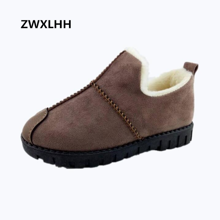 Female boots 2017 winter new women's snow boots, faux suede, short plush warm winter warm cotton shoes new winter children snow boots boys girls boots warm plush lining kids winter shoes