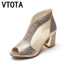 VTOTA Femmes Talons hauts Sandales Femmes Sandalia Feminina D'été Chaussures Chaussures De Mariage De Mode Femmes En Cuir Chaussures Sandalia Mujer A90