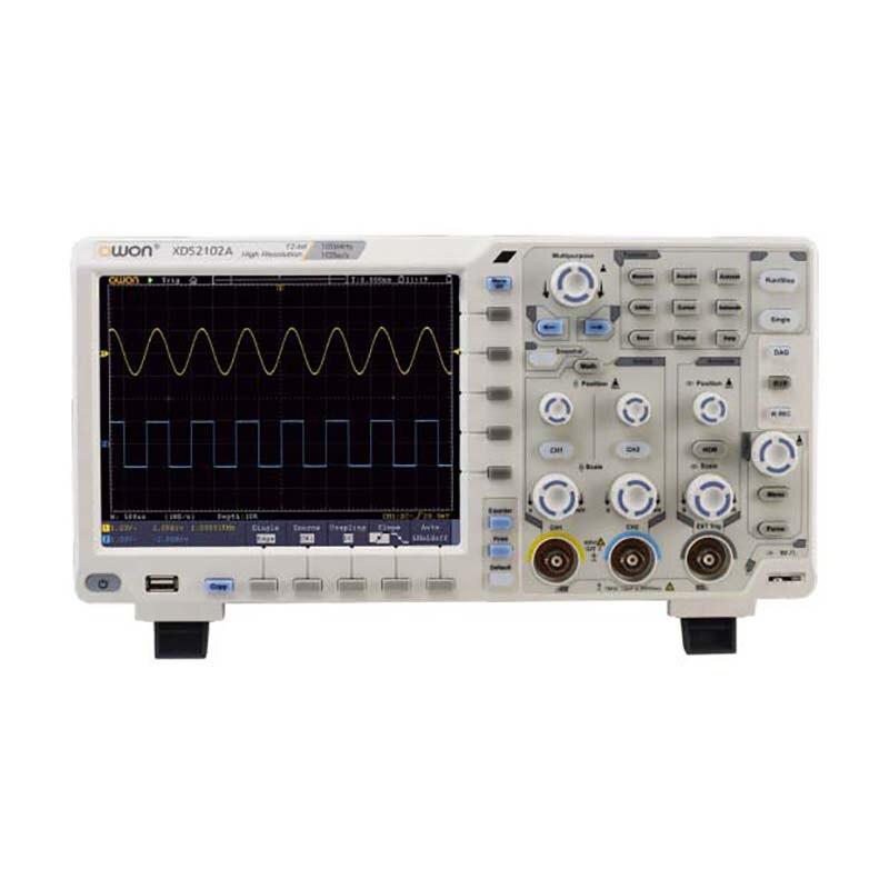 OWON Haute Précision Résolution Oscilloscope XDS2102A 100 MHz 12 bits 2 + (1) Canaux 1GS/S Haute Performance Numérique Oscilloscope