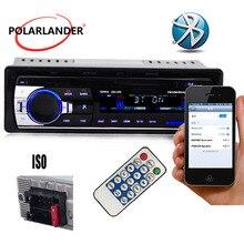 1 din Polarlander Buletooth автомобильный радиоприемник Mp3 плеер FM USB SD TF AUX IN 12V автомобильный аудио стерео с разъемом ISO дистанционное управление