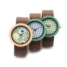Genuine Leather Strap Wooden Watch