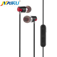 NAIKU Sport Bluetooth Earphones Sweatproof Wireless Earbuds With Mic Stereo Sound Magnet Attraction Earphone For Sport