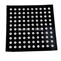 High Quality Black Display Board Real Leather Fit Hundred Snap Buttons Black 40x40cm(Fit Snap Fastener 5.5mm)