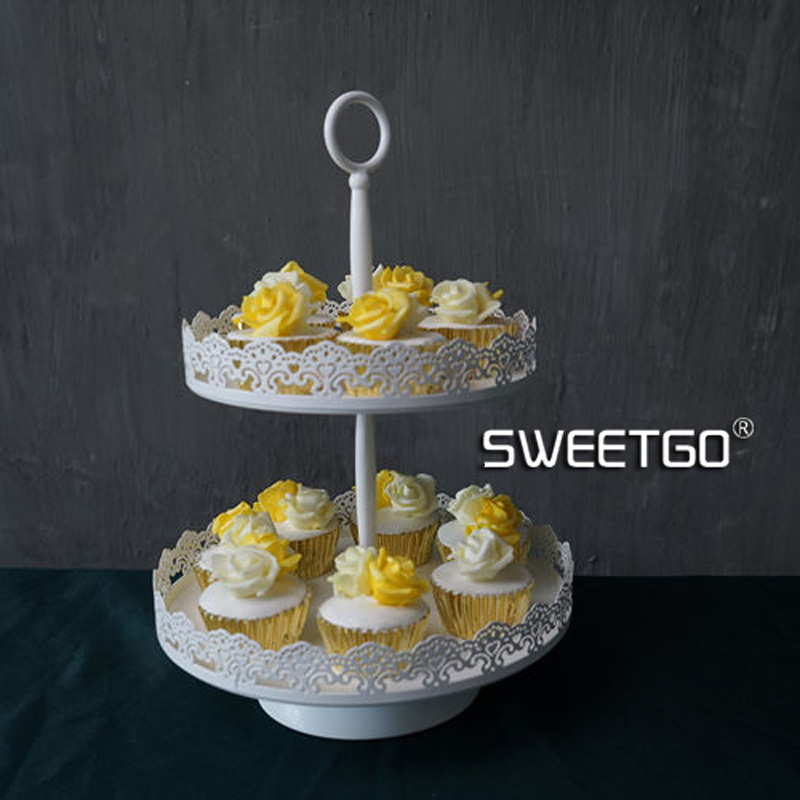 1 Set / 4 Pcs Lace Pattern Wedding Cake Stand Sets White Color ( include Plates \u0026 Stands )-in Stands from Home \u0026 Garden on Aliexpress.com | Alibaba Group & 1 Set / 4 Pcs Lace Pattern Wedding Cake Stand Sets White Color ...