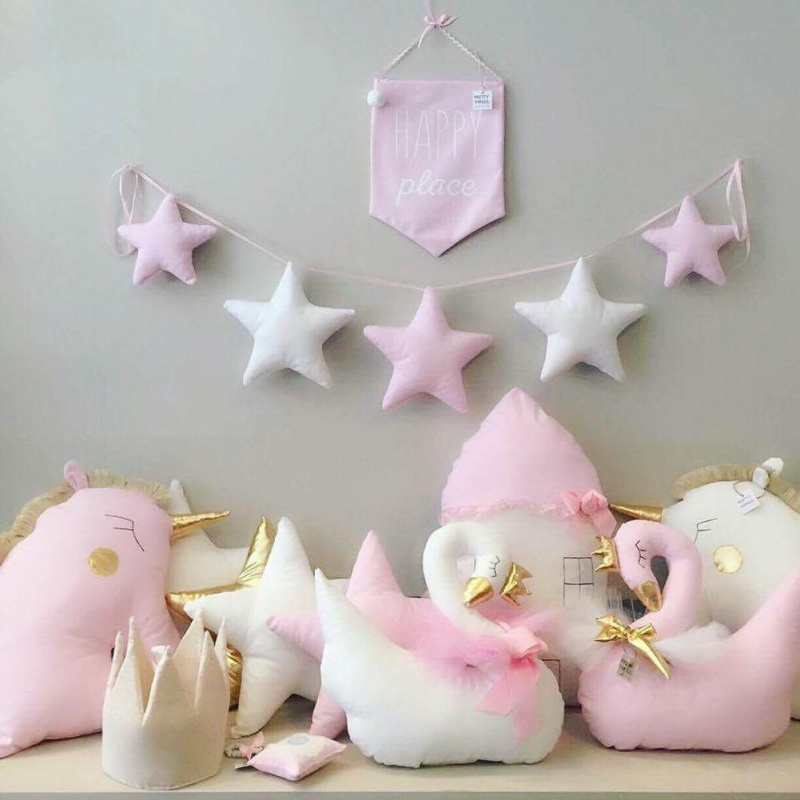 Nordic Baby Room Handmade Nursery Star Garlands Christmas Kids Room Wall Decorations Photography Props Decorations