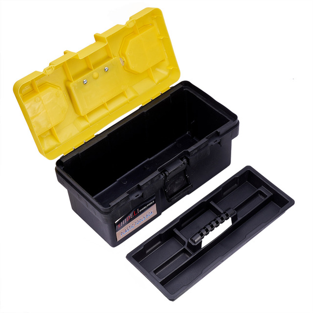 17 Inch Convenient Portable Hand Carry Tool Storage Lockable Storage Tool  Box Garage Mechanism Storage Organizer