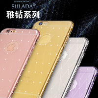 Original SULADA For IPhone6 Case Rhinestone Glitter Silicon Cover For IPhone 6 6S Plus Luxury Crystal
