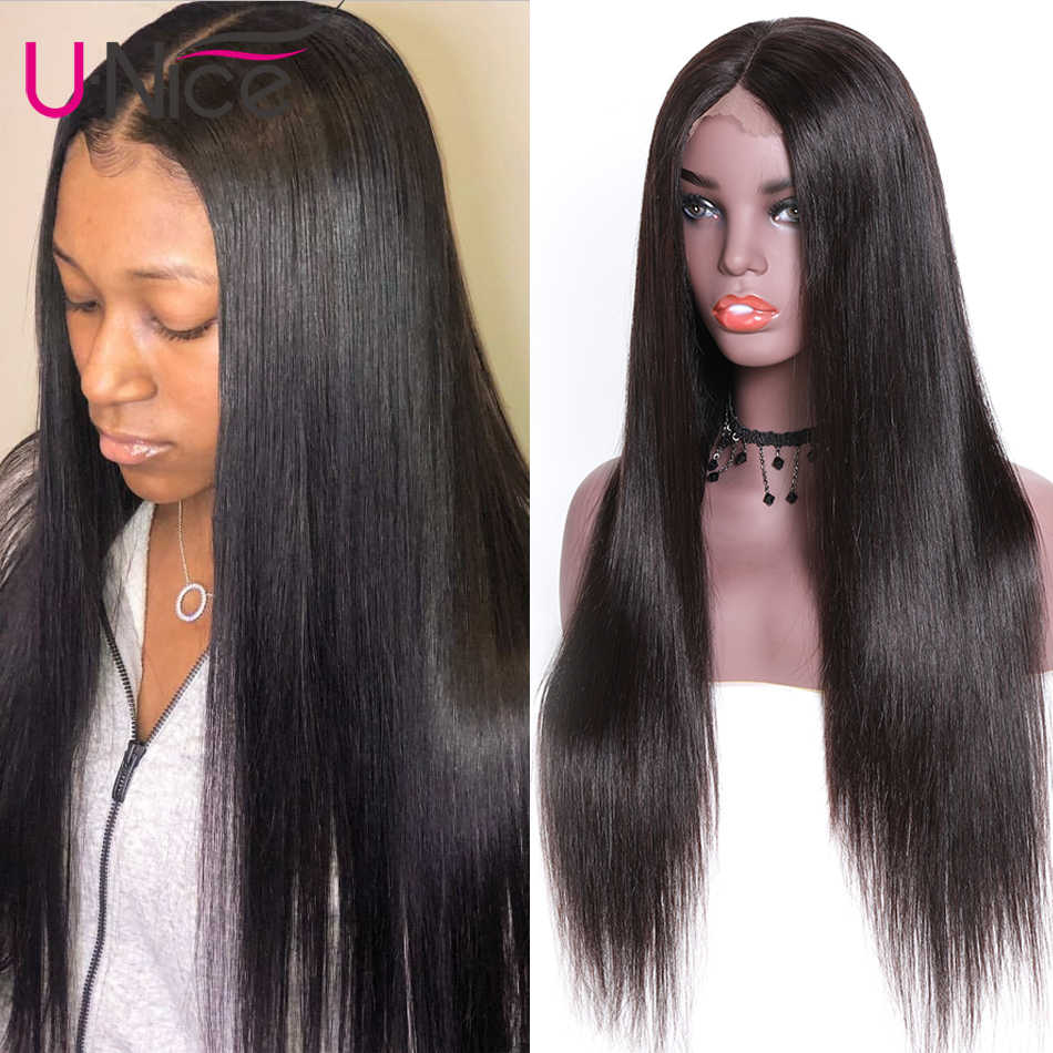 Unice Hair Full Lace Human Hair Wigs 14-26 Inch Brazilian Remy Straight Hair Natural color 100% Human Hair Wigs