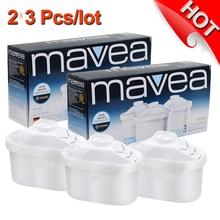 ¡ Caliente! Hogar tetera neta grifo purificador de agua de carbón activado Maxtra Filtros de agua reemplazo para BRITA pitcher 2×3 PCS/lot