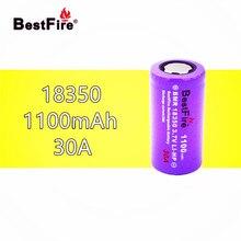 1 قطعة Bestfire 18350 بطارية 1100mAh 30A 3.7 فولت ليثيوم أيون قابلة للشحن ل Kamry K1000 E الأنابيب السجائر Vape الميكانيكية Mod B024 مصباح يدوي