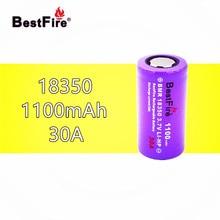 1 pcs Bestfire 18350 แบตเตอรี่ 1100 mAh 30A 3.7 V Li   Ion แบบชาร์จไฟได้สำหรับ Kamry K1000 E ท่อบุหรี่ Vape MECH mod B024 ไฟฉาย
